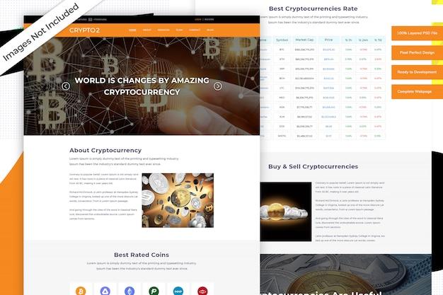 cryptocurrency website template premium psd file. Black Bedroom Furniture Sets. Home Design Ideas
