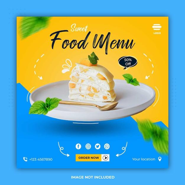 Culinary food banner social media templates post Premium Psd