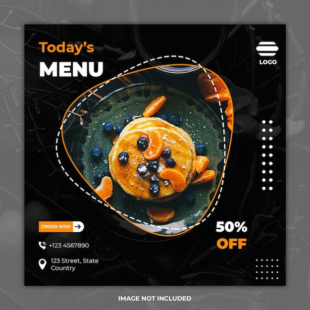 Culinary food social media banner templates Premium Psd