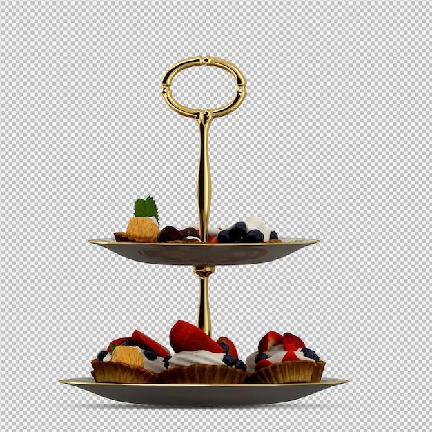 Cupcake 3d isolated render Premium Psd