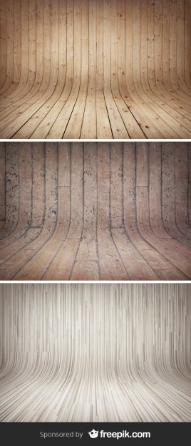 Curved Wooden Backgrounds Free Psd
