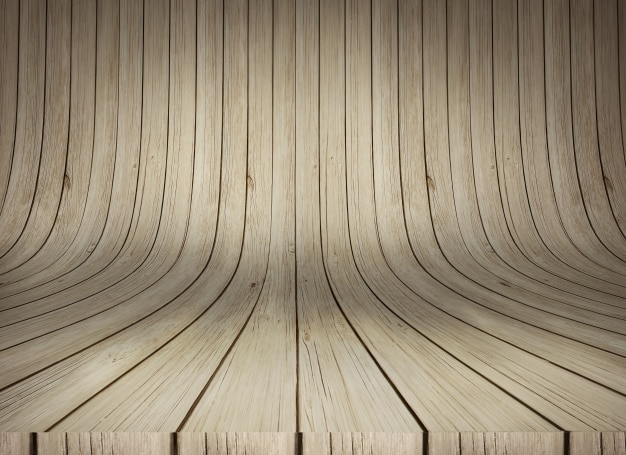 Curved wooden texture mockup Free Psd
