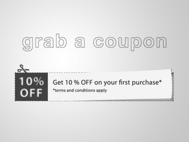 Cut Coupon With Discount Note Psd File Free Download