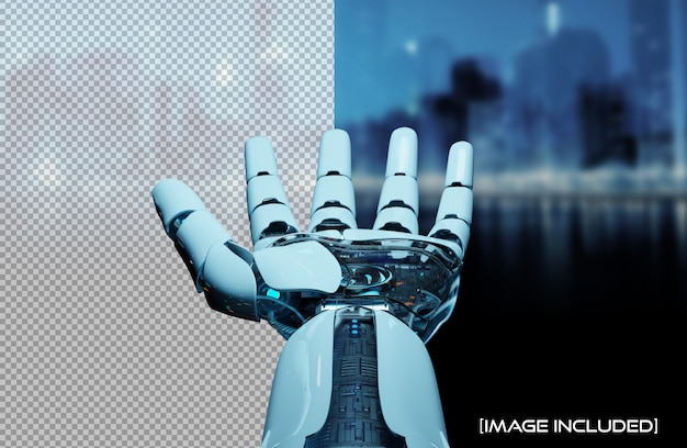 Cut out open robot hand isolated Premium Psd