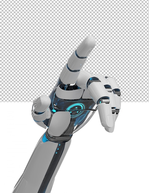Cut out open robot hand Premium Psd