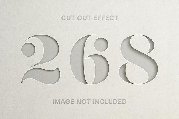 Вырезанный макет логотипа с эффектом бумаги Premium Psd