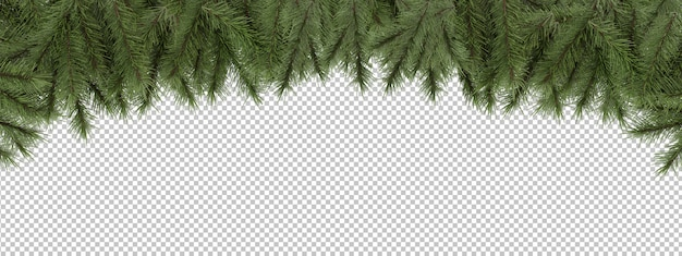 Cut out pine branches Premium Psd