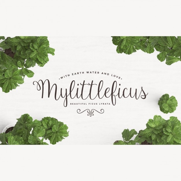 Cute background with green leaves Free Psd
