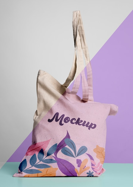 Cute bag concrpt mock-up Premium Psd