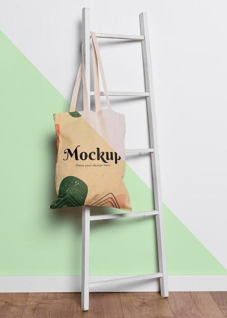 Mock-up concrpt di borsa carina Psd Gratuite