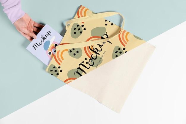 Cute bag concrpt mock-up Premium Psd