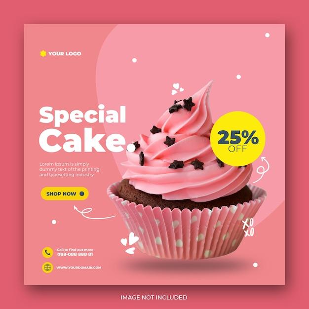 Симпатичный торт в instagram Premium Psd
