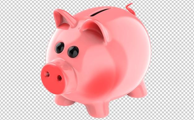 Милая розовая свинья копилка Premium Psd