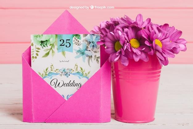 Cute wedding idea mockup Free Psd
