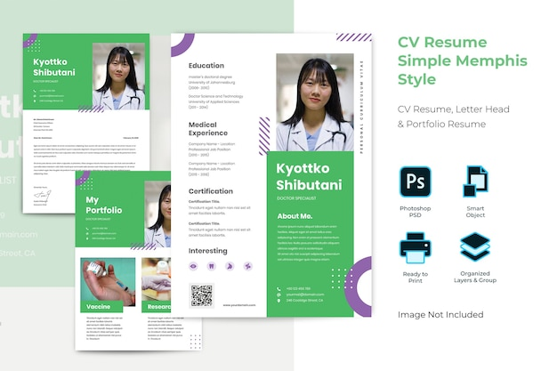 Cv履歴書テンプレート Premium Psd
