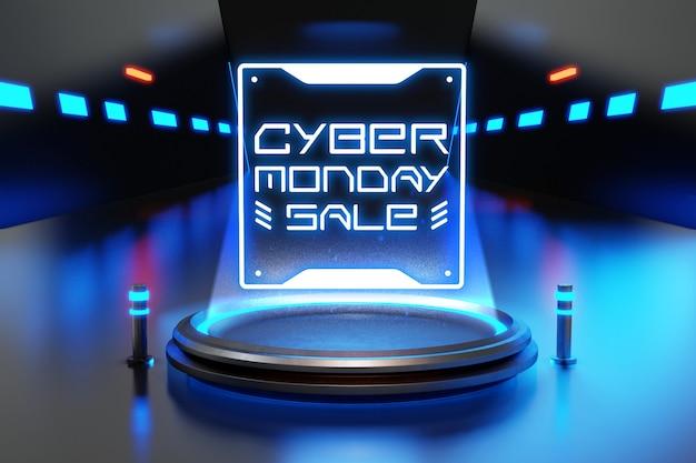 Cyber monday sale mockup