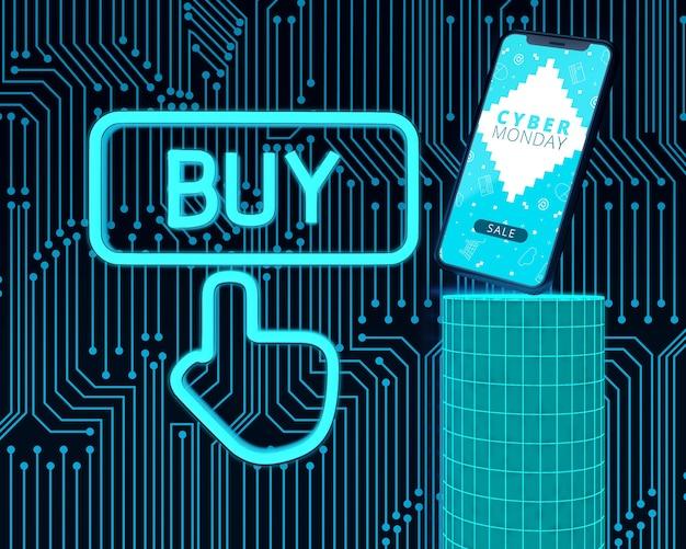 Купить сейчас cyber monday высокотехнологичный телефон Бесплатные Psd