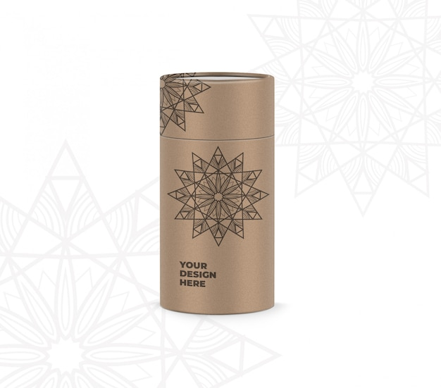 Cylinder box mockup Premium Psd