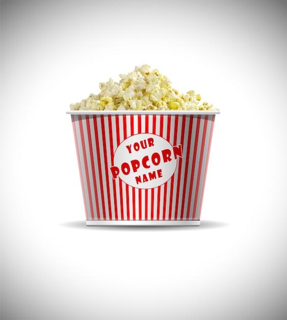 Cylindrical popcorn box mockup free psd Premium Psd