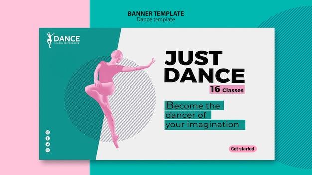 Танцевальный баннер с женщиной Бесплатные Psd
