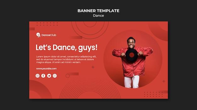 Dance concept banner template Free Psd