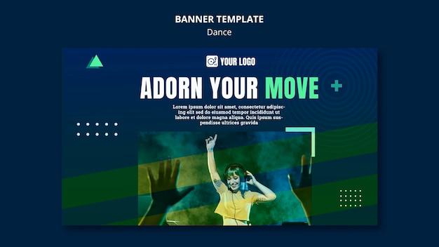 댄스 컨셉 배너 템플릿 무료 PSD 파일