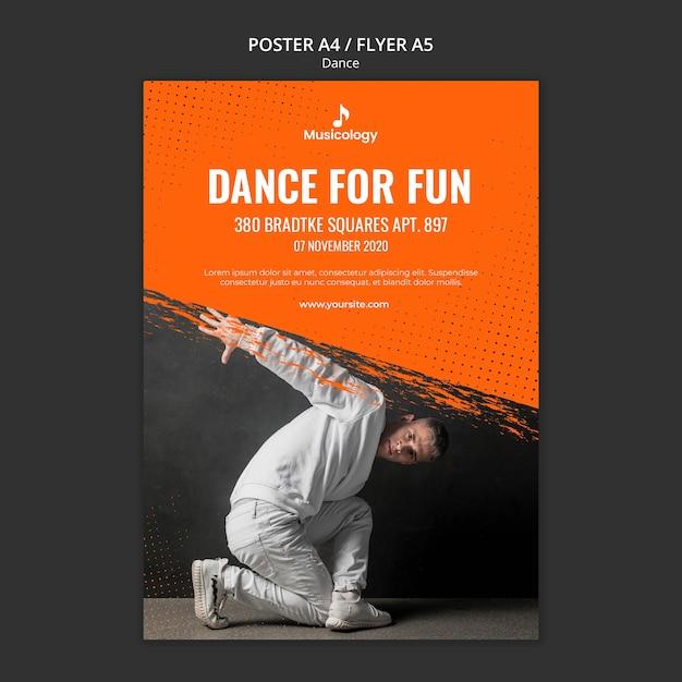 재미 음악학 포스터 템플릿 댄스 무료 PSD 파일