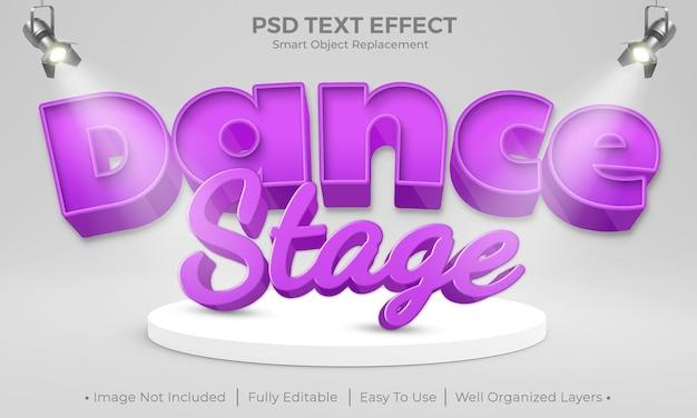 ダンスステージのテキスト効果のモックアップデザイン Premium Psd