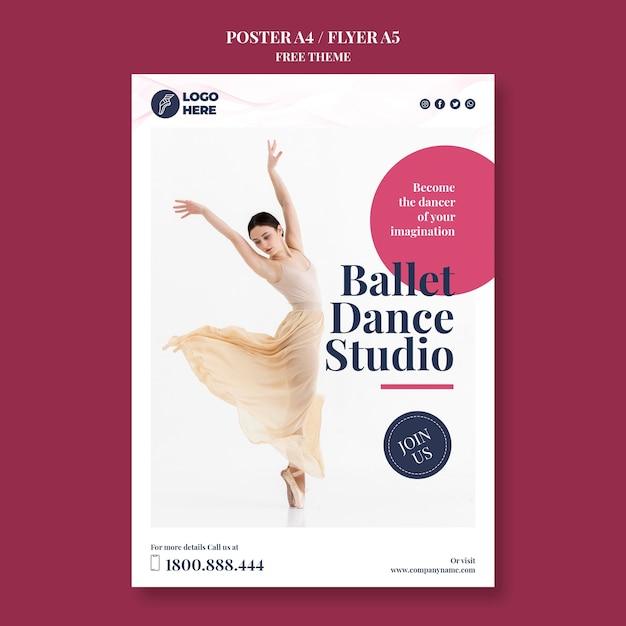 Modello di volantino studio di danza Psd Gratuite