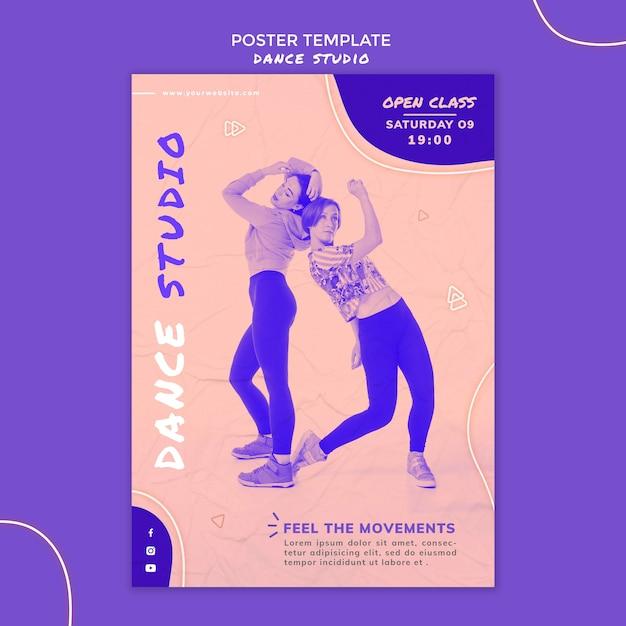 댄스 스튜디오 포스터 템플릿 무료 PSD 파일