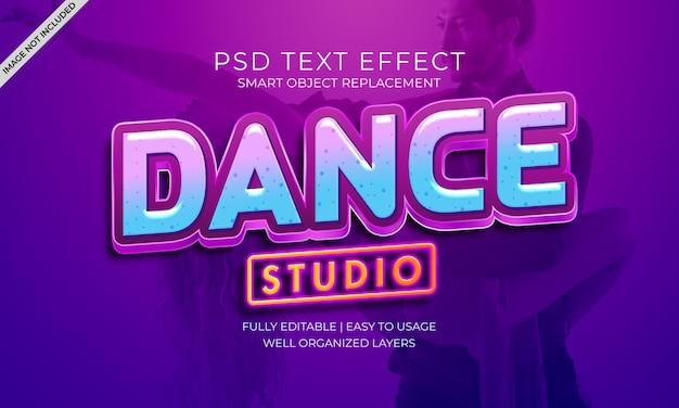 ダンススタジオテキスト効果 Premium Psd
