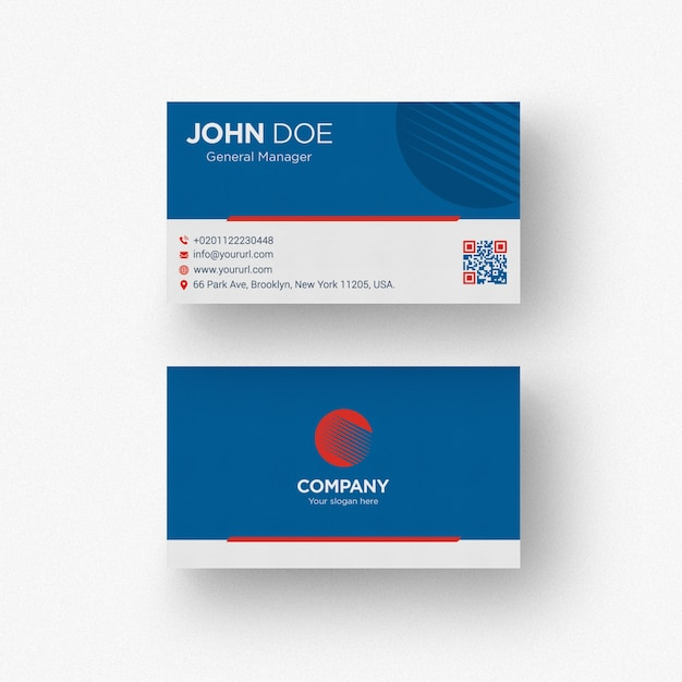 Dark blue business card psd file free download dark blue business card free psd reheart Image collections