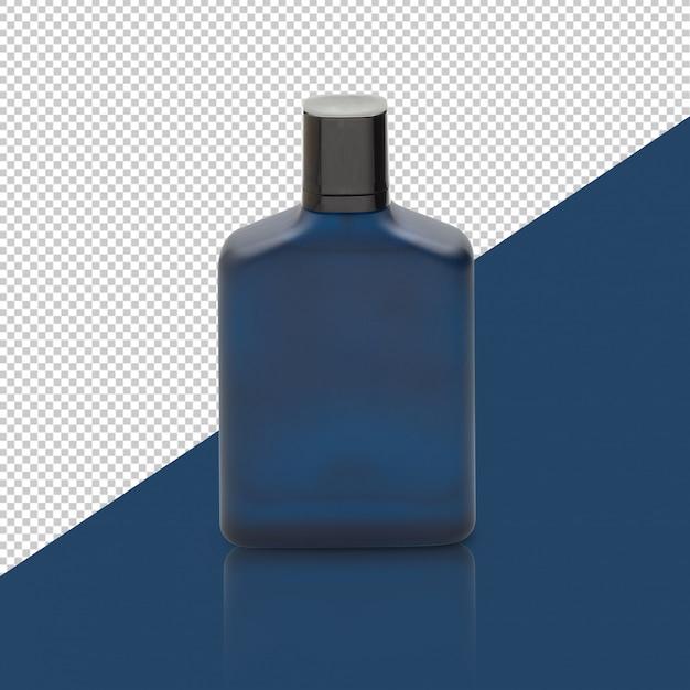 Dark blue perfume bottle mockup Premium Psd