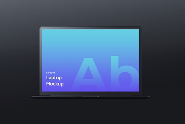 Dark laptop mockup Premium Psd
