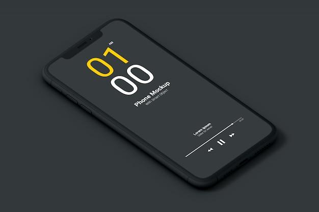 Dark phone mockup Premium Psd