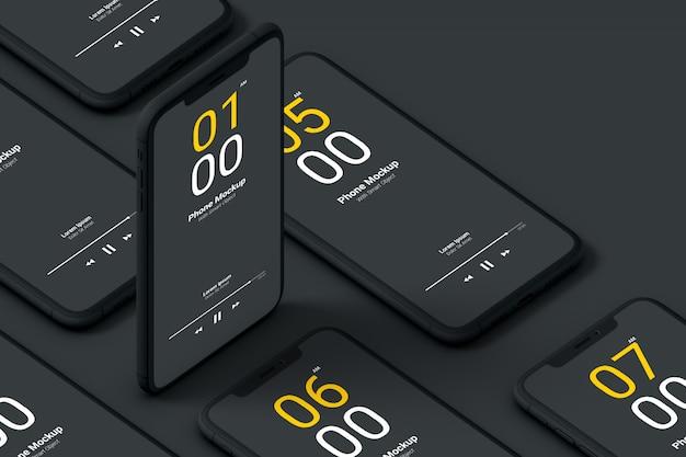어두운 전화 모형 프리미엄 PSD 파일