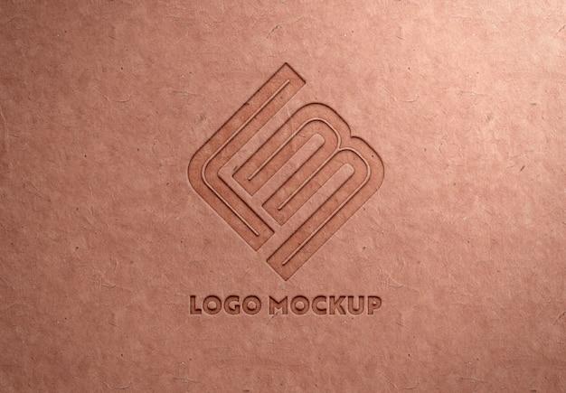 Логотип debossed на макулатурной бумаге Premium Psd