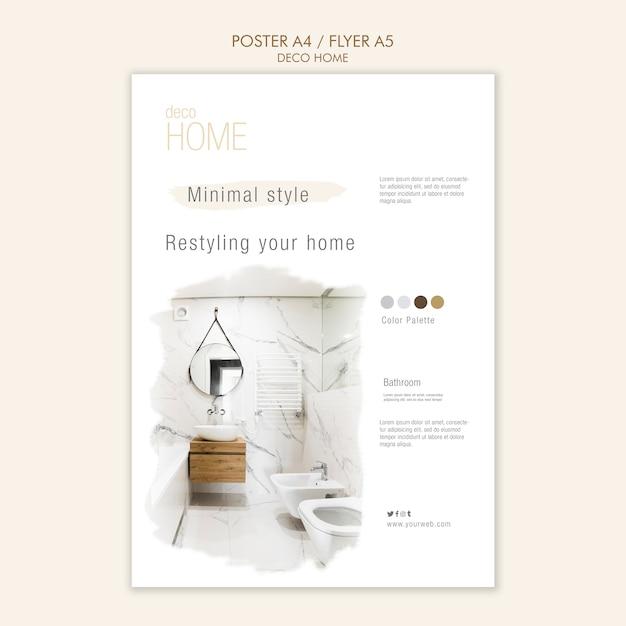 데코 홈 컨셉 포스터 템플릿 무료 PSD 파일