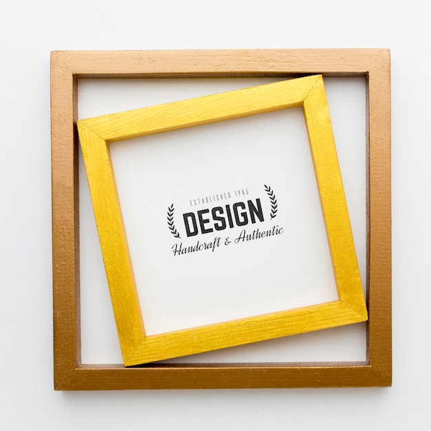 Decorative frame concept mock-up Free Psd