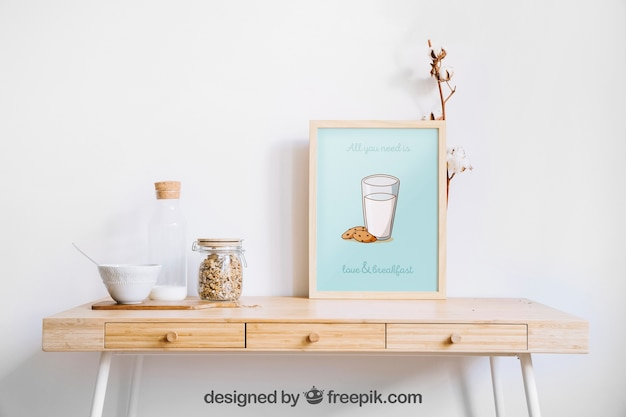 Decorative frame mockup Premium Psd
