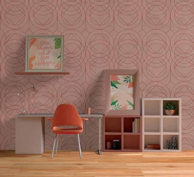 Декоративные рамки макет в красивой комнате Бесплатные Psd