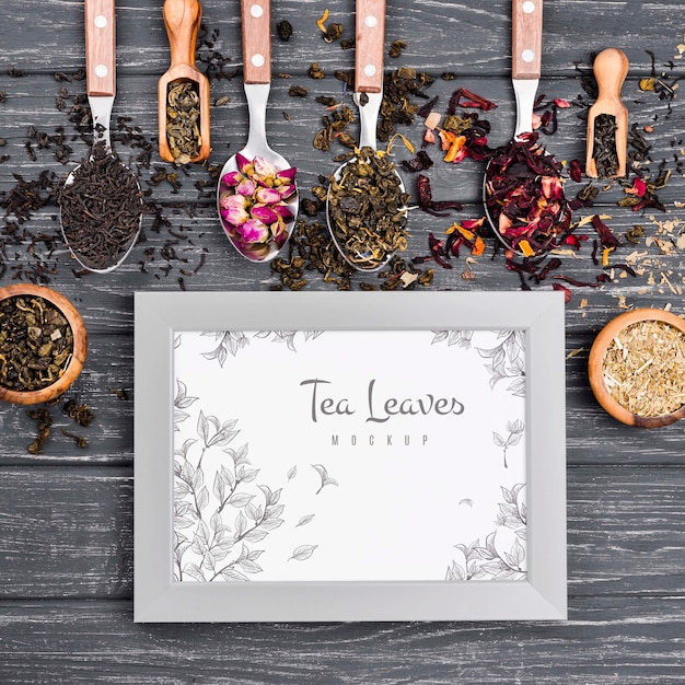 Delicious aromatic tea concept mock-up Free Psd