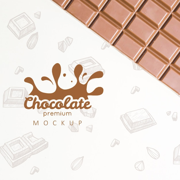 Delicious chocolate concept mock-up Free Psd