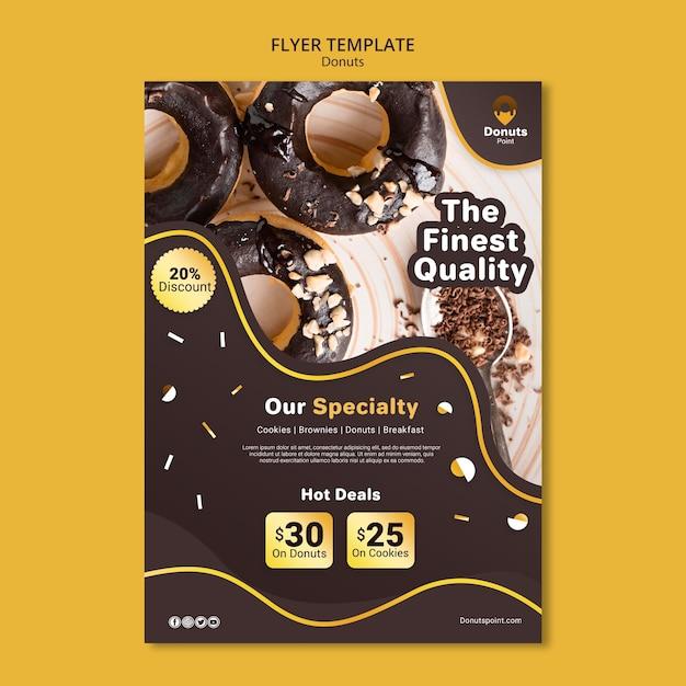 맛있는 도넛 플라이어 템플릿 무료 PSD 파일