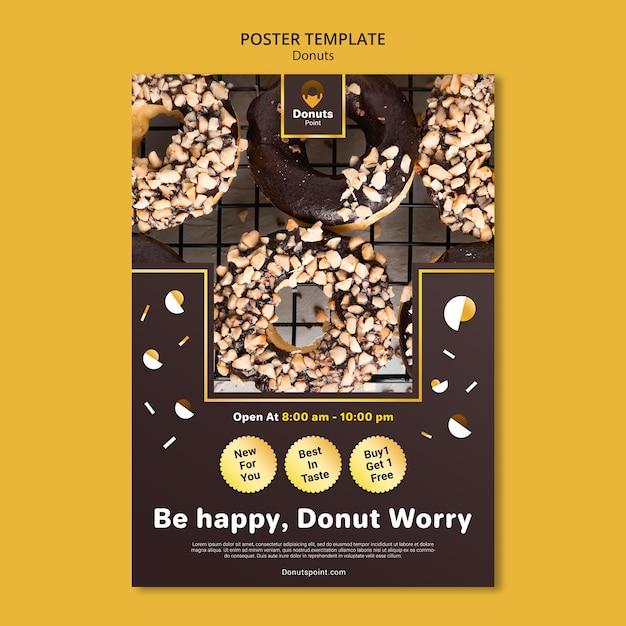 맛있는 도넛 포스터 템플릿 무료 PSD 파일