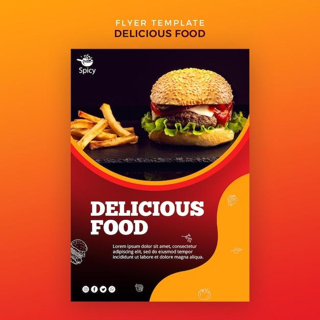 Шаблон флаера вкусной еды Бесплатные Psd