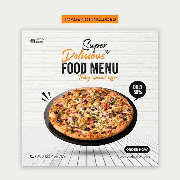 Delicious food menu social media and instagram post template Premium Psd