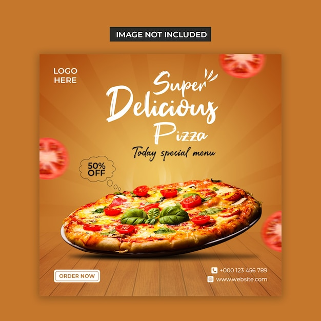 Delicious food social media and instagram post template Premium Psd