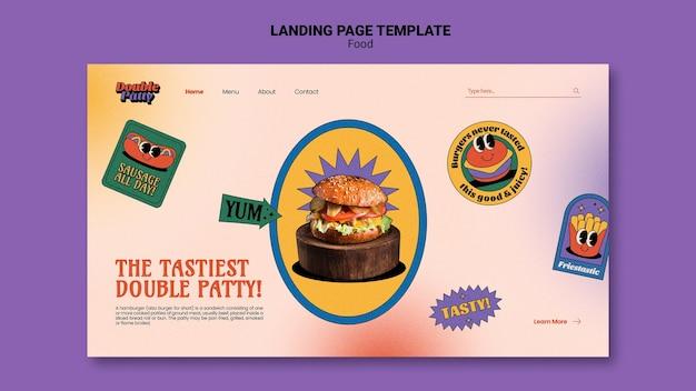Modello di web cibo delizioso Psd Gratuite