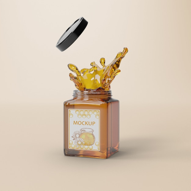 Delicious honey product mock-up Free Psd